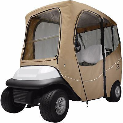 Fairway Deluxe Golf Buggy Cart Enclosure Cover Short Roof Khaki
