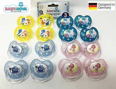 Baby Nova Germany 4Pack Pacifier 18+ Months Baby Feeding Dummie Soother BPA FREE
