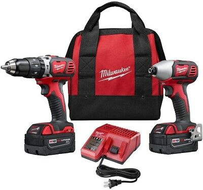 Milwaukee M18 18-Volt Lithium-Ion Cordless Hammer Drill/Impact Driver Combo Kit