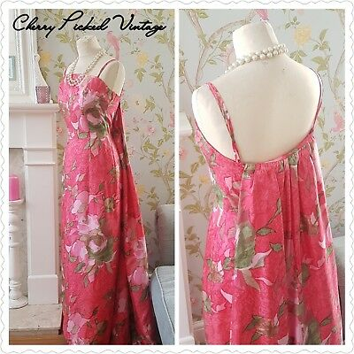 Beautiful Vintage 1950's 60's Floral Cocktail Party Evening Ball Dress UK 8-10