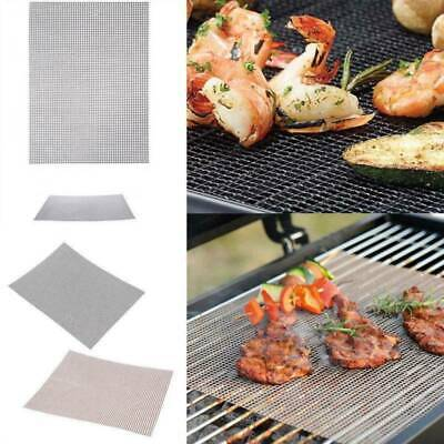BBQ Barbecue Grill Mat Non-stick Replacement Mesh Wire Net Outdoor Cook Telflon