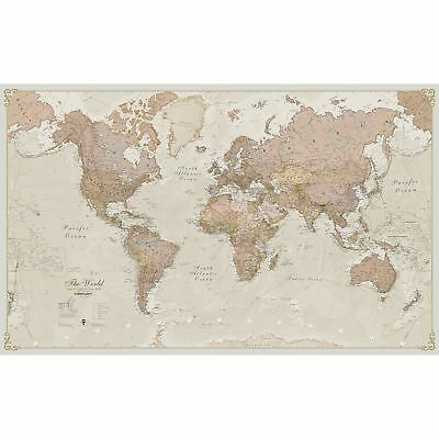 Giant world map poster vintage retro photo wall paper mural hanging antique world map giant large wall mount paper huge poster school retro earth gumiabroncs Choice Image