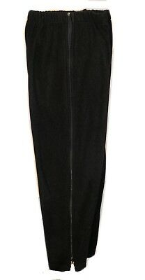 Wholesale Warm-Up Fleece Side Zip Black Pants Zippers  Breakaway Tear Away