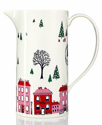 Kate Spade New York Arbor Village Holiday Pitcher 8.5""