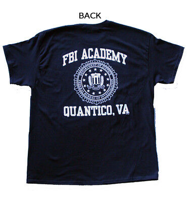 FBI Academy T-Shirt Federal Bureau of Investigation Government  New Quantico VA