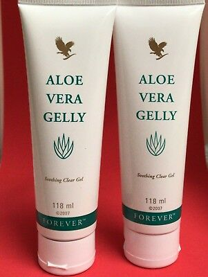 2 X Forever Living Aloe Vera Gelly Soothing Clear Gel (2x 118mle)