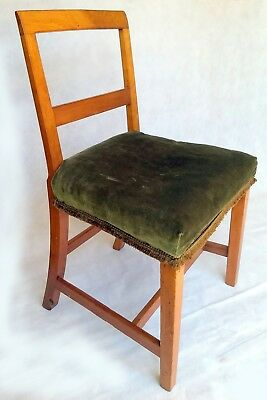 ANTIQUE GEORGIAN ENGLISH WOODEN CHAIR Farmhouse Kitchen Dining early 1800's 19 c