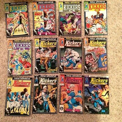 Kickers Inc. Vol.1 1986 #1,2 1987 #3,4,5,6,7,8,9,10,11,12, Complete Run Vf/vf+