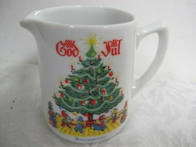 Berggren Porcelain Creamer Christmas Tree Elves God Jul Swedish