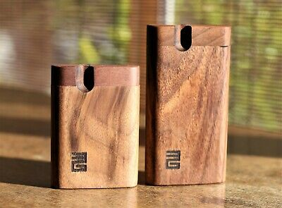 """3"""" Black Walnut Dugout with One Hitter- Perfect Gift- Old School Smoke Box"""