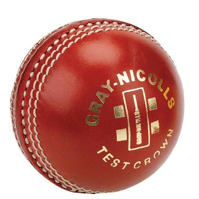 NEW Gray Nicolls Test Crown Two Piece Cricket Ball 156g, Red from Rebel Sport