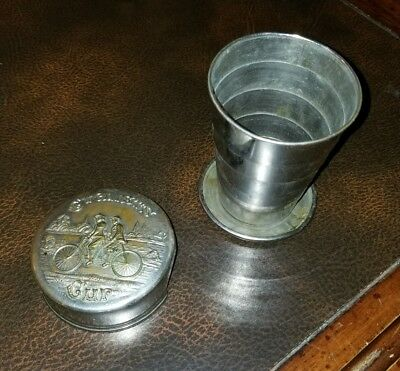 Antique Metal Collapsible CYCLISTS CUP Patented 1887 USA