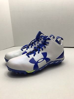 size 40 77c9a df0a6 NEW UNDER ARMOUR SPINE FIERCE MC FOOTBALL CLEATS UA 1269740-142 MENS Size 13