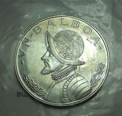 - Panama 1973 PROOF 1 Balboa. Crown.  World - Foreign Silver Coin. FREE Ship!