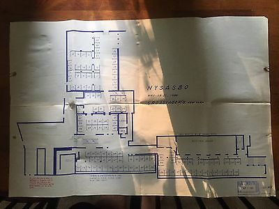 Large Blueprint Map Grossinger's Lobby/pool Wing Liberty NY Sullivan County