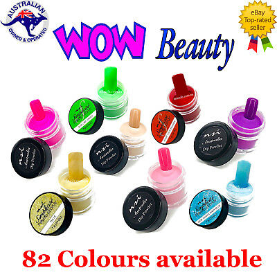 Dip Powders 7g - NSI Coloured Acrylic Dipping Powders - Highly Pigmented