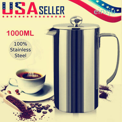 304 Double Wall Insulated Anti-fall Stainless Steel French Press Coffee Maker