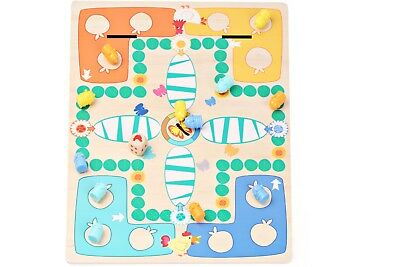 Chess Game Board Caterpillar 2 In 1 Wooden Kids Toys