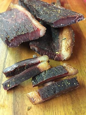 100 Gramm Biltong Beef Jerky  -Original mit Fettrand- Namibia Probierpackung