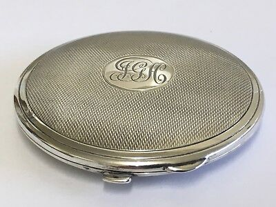 Beautiful Solid Silver Compact by Charles S Green & Co Ltd Birmingham 1937
