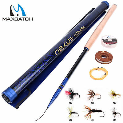 "Tenkara Rod Complete Sets 12' 13' 13'6'' 13'/14'7"" 7:3 action & Tenkara Line Kit"