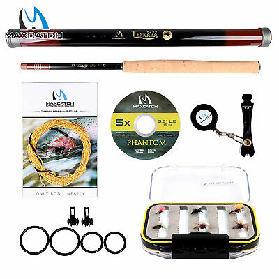 10' 11' 12' 13' Ultimate Tenkara Fishing Rod Kit Furled Line Carbon Tippet Flies