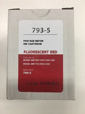 Red Ink Cartridge 793-5 Pitney Bowes Compatible