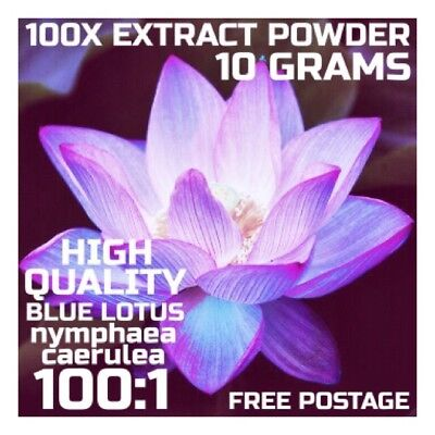 Blue Lotus | (Nymphaea Caerulea) 100x Extract Powder [10 Grams] Blue Lily