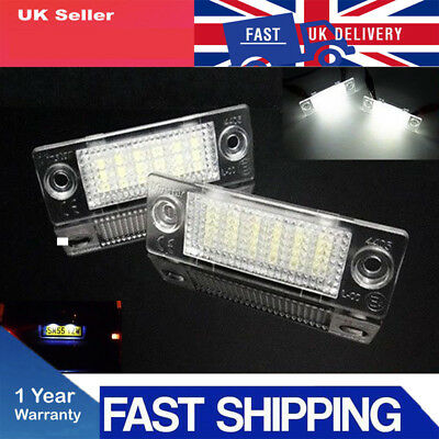 2XFor VW Transporter T5 Caddy Touran Skoda Superb LED Licence Number Plate Light