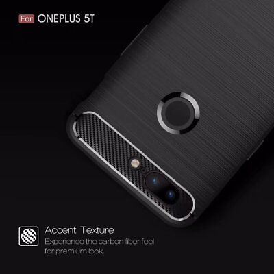 For OnePlus 5T Shockproof Silicone Armor Slim Hybrid Back Case Soft Bumper Cover