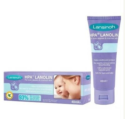 Lansinoh HPA Lanolin Cream 40ml for sore cracked nipples and dry sensitive skin