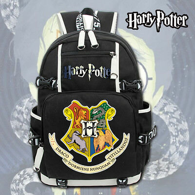 Harry Potter Hogwarts Logo Canvas Backpack Rucksack Schulranzen