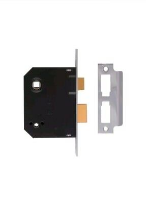 UNION J2294-CH-2.50 Mortice Bathroom Lock Chrome Finish 63mm 2.5in