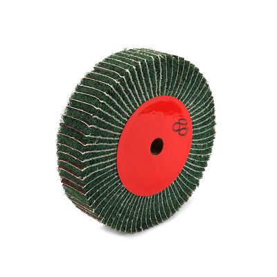 120 Grit 2 Inch Thickness Green Abrasive Scouring Grinding Polishing Flap Wheel