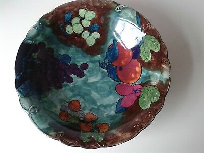 """Hancock And Sons Hand-Painted """"titian"""" Bowl Designed By J X Abraham"""