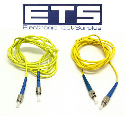 Lot Of 2 Fiber Optic FC To ST 2 Meter Optical Cable