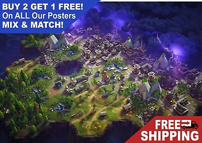 Fortnite video game world map giant poster a5 a4 a3 a2 a1 huge fortnite video game world map giant poster a5 a4 a3 a2 a1 huge sizes gumiabroncs Images