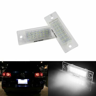 2x LED Licence Number Plate Light Lamp For VW Transporter T5 Caddy Jetta Passat