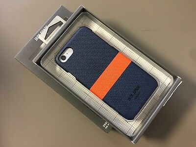 NEW Jack Spade NEW YORK Case for Apple iPhone 7 iPhone 8 Navy Blue Orange Spripe