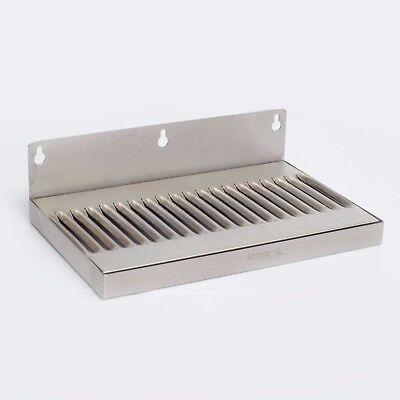"10"" Drip Tray Stainless Steel Door Wall Mount Beer Kegerator Removable Grate"