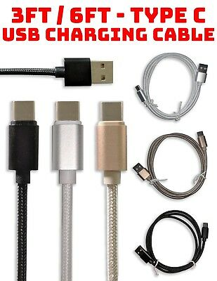 (3 Pack) 3ft 6ft Type C - USB Data Sync Braided Charging Cable Google Pixel xl 2