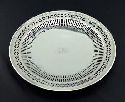Tiffany & Co Makers Sterling Silver Pattern 17266 Reticulated Footed Plate 10.5""