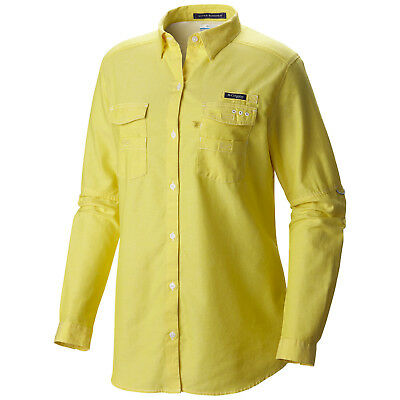 "New Womens Columbia PFG ""Super Bonehead II"" Vented Classic Boyfriend Shirt"