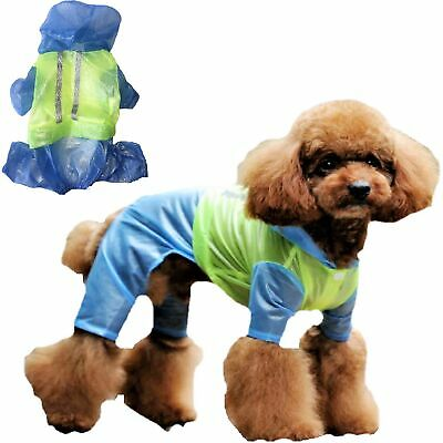 LIGHTWEIGHT Dog RainCoat Rainwear WATERPROOF Rain Jacket Coat Reflective XXS - L