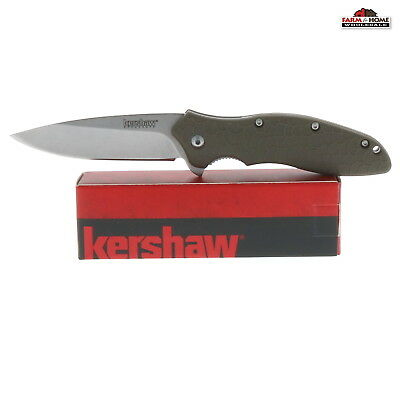 Kershaw OSO Sweet Olive Green Knife Plain Blade ~ New
