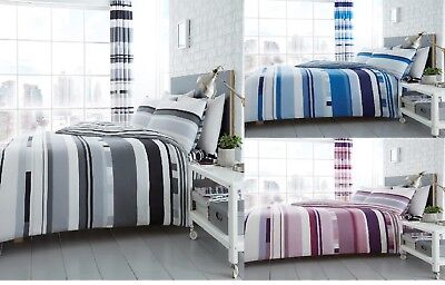 New Luxury Chester Strip Duvet Covers Quilt Covers Reversible Bedding Sets By GC