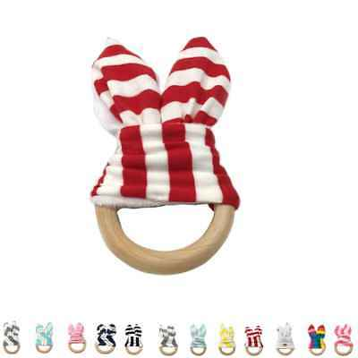 Soft Baby Wooden Bracelet Baby Teether Teething Toy Wood Letter Bead BPA-Free