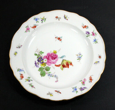 """Meissen Flowers & Insects ~ Salad/Dessert Plate(s) 8 1/2"""""""