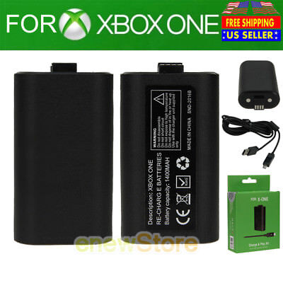 For Official Microsoft XBOX ONE Play and Charge Kit Xbox One NEW USA FREE SHIP
