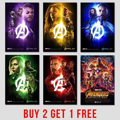 Avengers Marvel Movie Film Posters Super Hero Comic Wall Decor A4 A3 A2 -200